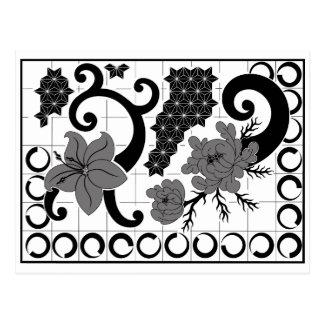 Fleurs & graph… postkarte