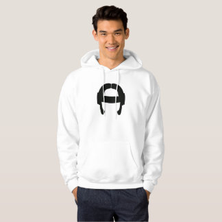 FlexBormarr Schwarzes auf weißem Hoodie