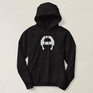 FlexBormarr Weiß auf schwarzem Hoodie