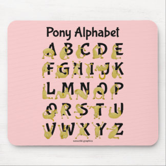 Flexibles Alphabet-Diagramm des Pony-| Mousepad