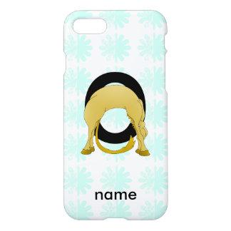 Flexibles Pony des Monogramm-O personalisiert iPhone 8/7 Hülle