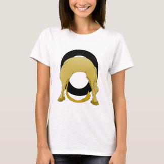 Flexibles Pony des Monogramm-O personalisiert T-Shirt