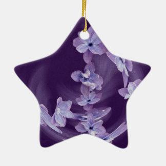 Flieder im Kreis Keramik Stern-Ornament
