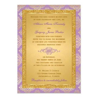 Flieder, IMITAT Glitter, 12,7 X 17,8 Cm Einladungskarte