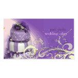 Flieder/Lavendel/Schokoladenkuchen, Bäckerei Visitenkarten Vorlagen