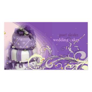 Flieder/Lavendel/Schokoladenkuchen, Bäckerei Visitenkarten