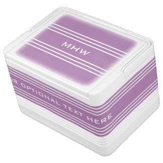 Flieder Stripes kundenspezifische Igloo Kühlbox