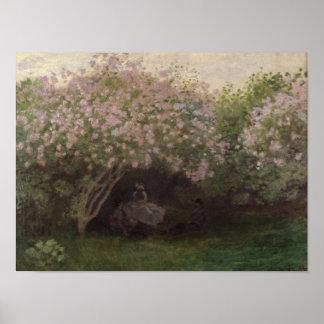 Fliedern Claude Monets |, graues Wetter, 1872 Poster