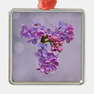 Fliedern im Frühjahr Silbernes Ornament