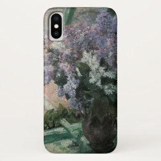 Fliedern in einem Fenster durch Mary Cassatt, iPhone X Hülle