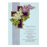 Fliedern und Kruzifix-Ostern-Einladung