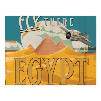 Fliege dort - Ägypten Postkarte