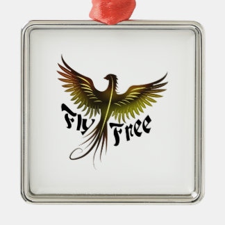 Fliege geben frei silbernes ornament