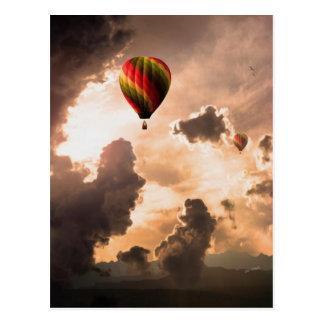 Fliege geben meinen Heißluft-Ballon - die Reise-Au Postkarten