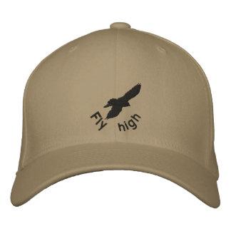Fliege hoch, Krähe, Stickereihut Bestickte Kappe
