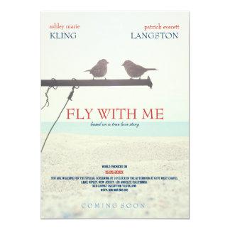 Fliege mit mir - Hochzeits-Einladung 12,7 X 17,8 Cm Einladungskarte
