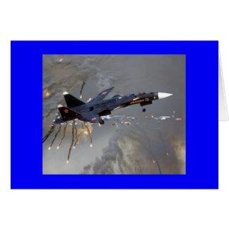 """FLIEGE RUSSISCHES SUKHOI SU-27 """"FLANKER """" KARTE"""