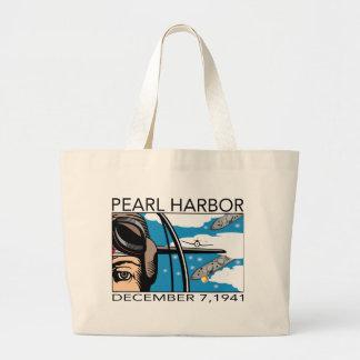 Fliege über Pearl Harbor Einkaufstaschen