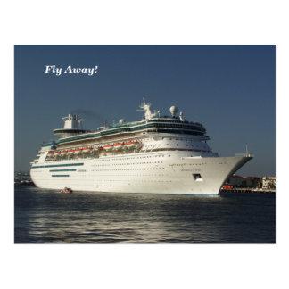 Fliege weg! Kreuzschiff-Postkarte Postkarte