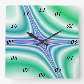 Fliege weg - quadratische wanduhr