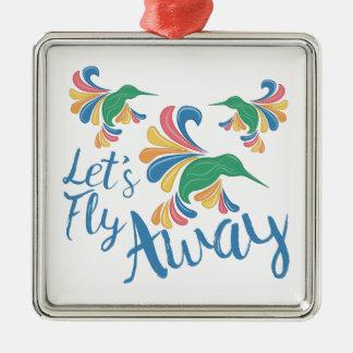 Fliege weg silbernes ornament