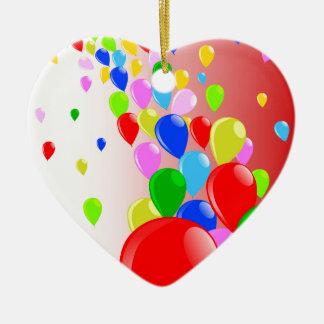 Fliege weg steigt im Ballon auf Keramik Ornament
