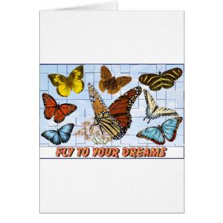 Fliege zu Ihren Träumen Karte