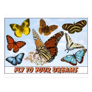 Fliege zu Ihren Träumen Postkarte