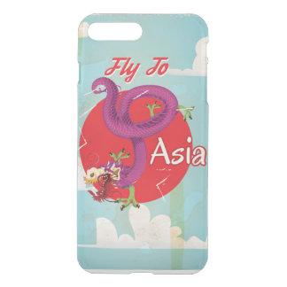 Fliege zu Vintager Reise Asiens iPhone 8 Plus/7 Plus Hülle