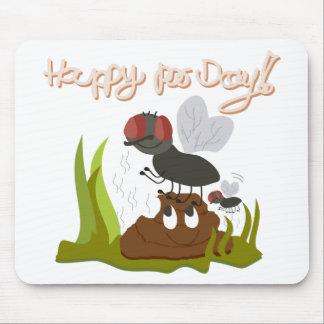 Fliegen auf dem Lächeln, smelly poo lustiger Mousepad