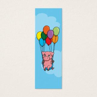 Fliegen-Ballon-Schwein Mini Visitenkarte