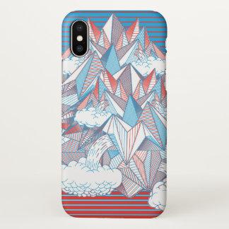 Fliegen-Berg iPhone X Hülle
