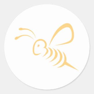Fliegen-Bienen-Insekten-Logo Runder Sticker