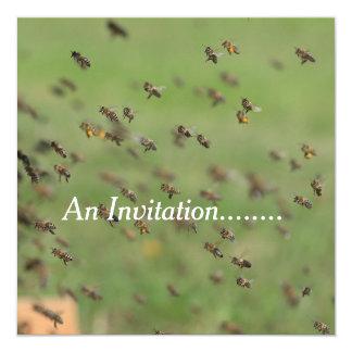Fliegen-Bienen - personalisierte Party Einladung