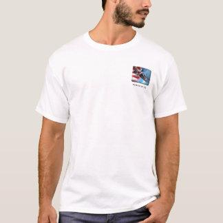 Fliegen-Eagle-Flagge T-Shirt