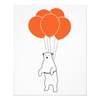 Fliegen-Eisbär mit Ballonen 11,4 X 14,2 Cm Flyer