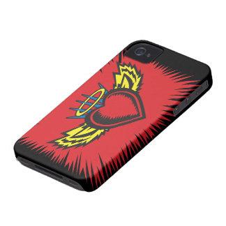 Fliegen-Engels-Herz-Tätowierung iPhone 4 Case-Mate Hülle