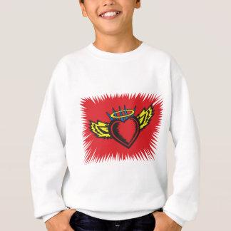 Fliegen-Engels-Herz-Tätowierung Sweatshirt
