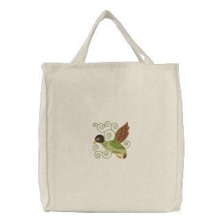 Fliegen-Ente Bestickte Einkaufstaschen