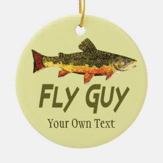 Fliegen-Fischen-Fliegen-Typ-Mannes Keramik Ornament