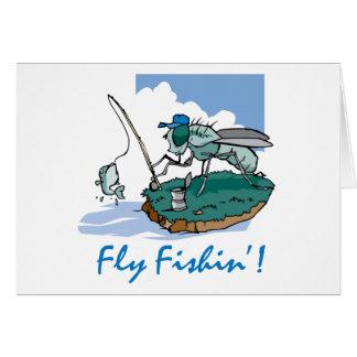 Fliegen-Fischen Grußkarte