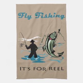 Fliegen-Fischen Handtuch