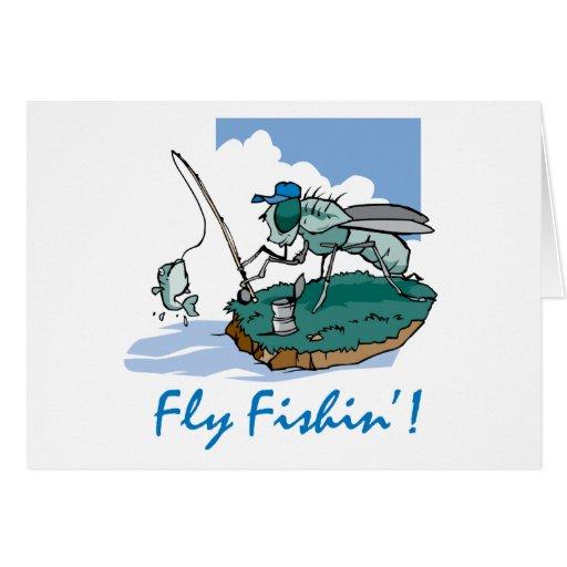 Fliegen-Fischen Grußkarten