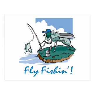 Fliegen-Fischen Postkarten
