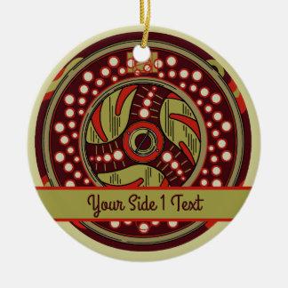 Fliegen-Fischen-Spulen-Weihnachten Keramik Ornament