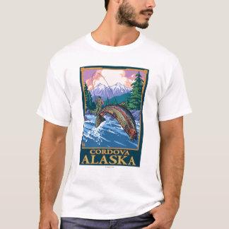 Fliegen-Fischen-Szene - Cordova, Alaska T-Shirt