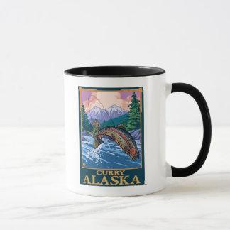 Fliegen-Fischen-Szene - Curry, Alaska Tasse