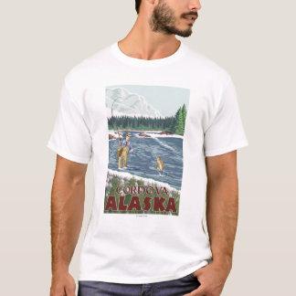 Fliegen-Fischer - Cordova, Alaska T-Shirt