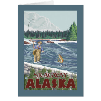 Fliegen-Fischer - Skagway, Alaska Karte