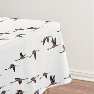 Fliegen-Flamingo-Tischdecke (wählen Sie Farbe) Tischdecke